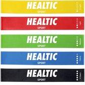 Healtic - Weerstandsbanden Set - 5 stuks - Met eBook & Handleiding - Speciale vrouwen set - elastiek band fitness - Fitness Elastieken Fitnessbanden ,  Loop Resistance , Banden ,  Gymnastiekband , Trainingsbanden   Limited Edition