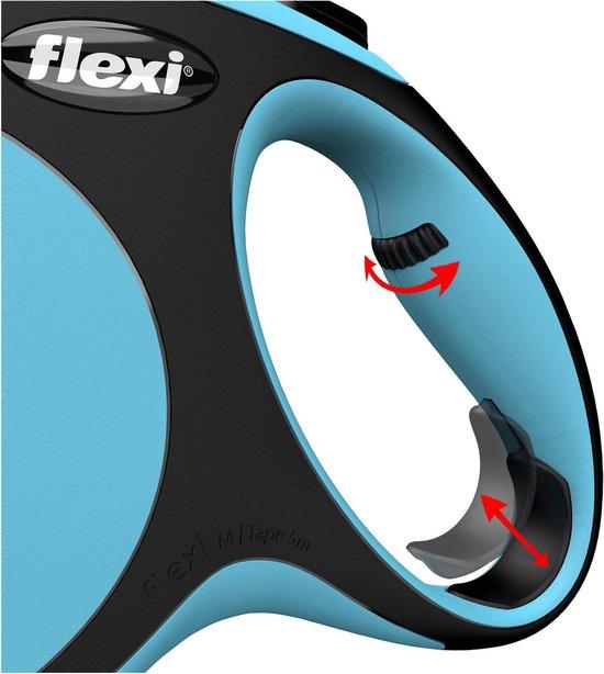 Flexi New Comfort Tape - Hondenriem - Blauw - L - 8 m - (<50 kg)