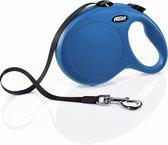 Flexi New Classic Tape - Hondenriem - Blauw - L - 8 m - (<50 kg)
