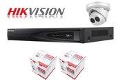 2x Hikvision Turret 4 megapixel Exir Darkfighter camerabewaking set