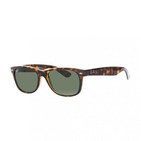 Ray-Ban RB2132 902L - New Wayfarer (Classic) - zonnebril - Tortoise / Groen Klassiek G-15 - 55mm