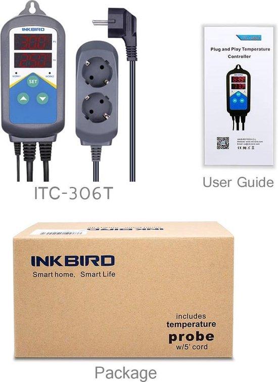 ITC-306T temperatuur controller voor - aquarium - bier brouwen - terrarium - kweekruimte - kippen - fokken - thermostaat