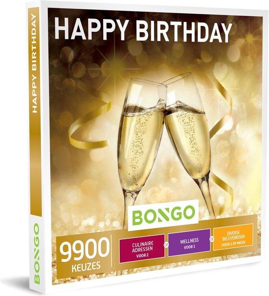 Bongo Bon België - Happy Birthday Cadeaubon - Cadeaukaart cadeau voor man of vrouw | 9900 activiteiten voor groot en klein: cultuur, plezier, sportief en meer