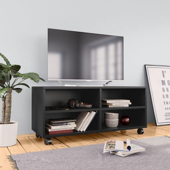 Zwart Tv Meubel Op Wielen.A8k4dw1f2ldtvm