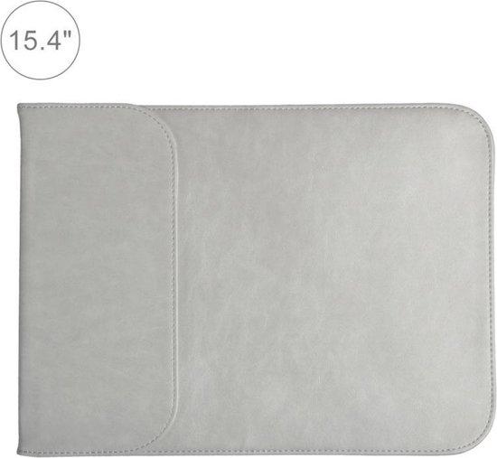 Let op type!! 15 4 inch PU + nylon laptop tas Case Sleeve notebook draagtas  voor MacBook  Samsung  Xiaomi  Lenovo  Sony  DELL  ASUS  HP (grijs)