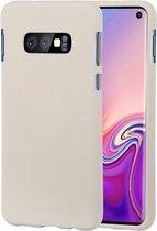 white Label Liquid Silicone Back Cover Samsung Galaxy S10e Beige