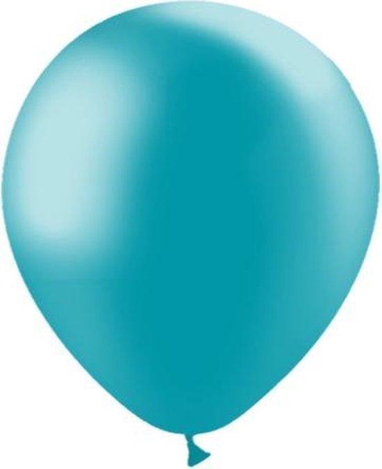 Turquoise Ballonnen Metallic 30cm 10st