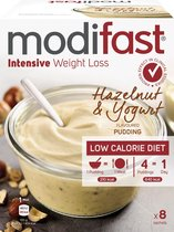 Modifast Intensive Pudding - Yoghurt Hazelnoot - 8 x 52g