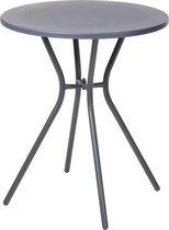 Relaxwonen - Bijzettafel - Tafel - Tuin tafel - Antraciet - Rond