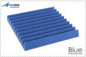 Akoestisch Studioschuim, Geluidsdemping panelen, Wedge Tiles - 50 x 50 x 5 cm - Blauw