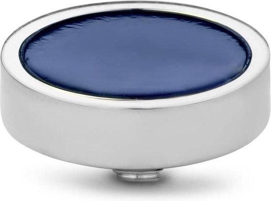 Twisted Gemstone Plate steentje - zilverkleurig - dames - 12mm - Sodalite