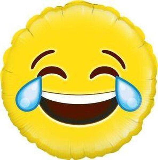 Ballon 46 cm ( flat ) smile - smiley professionele kwaliteit