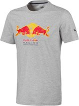 PUMA Red Bull Racing Double Bull Tee Heren Sportshirt - Light Gray Heather - Maat L