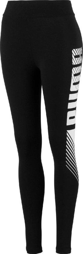 PUMA ESS+ Graphic Leggings Dames Sportlegging - Puma Black - Maat XS