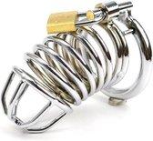 Quick Relief - Pro Lock™ Kuisheidskooi - Metaal - Kuisheidskooi voor Mannen - Chastity cage - Staal Deluxe