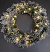 Chicago met Sneeuw PP Kerstkrans - Diameter 75 cm - Chicago Kerstkrans op de Voordeur - 100 Takken