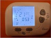 2HEAT® DR5, DRAADLOZE THERMOSTAAT PROGRAMMEERBAAR 868Mhz MET ACHTERGRONDVERLICHTING (zonder wifi)INCLUSIEF OPBOUW ONTVANGER 10A, 230Vac