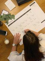 Maandplanner Black&White - A2 Familieplanner - 12 stuks