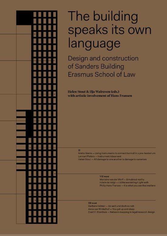 Boek cover The building speaks its own language van  (Hardcover)