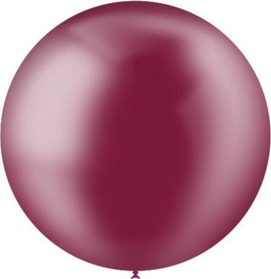 Bordeaux Rode Reuze Ballon Doorzichtig XL 91cm