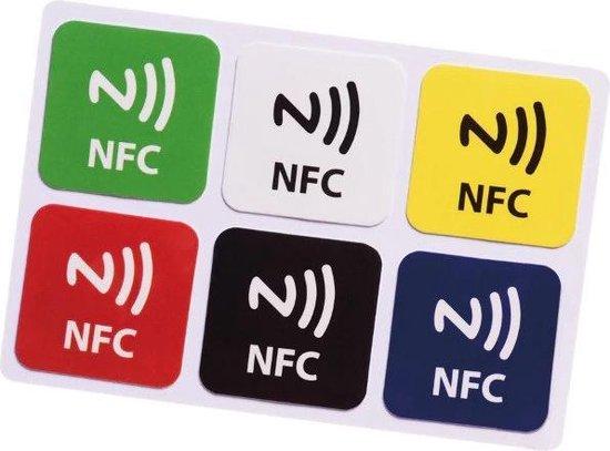 12 NTAG213 NFC tags Kleur Logo Stickers Vierkant