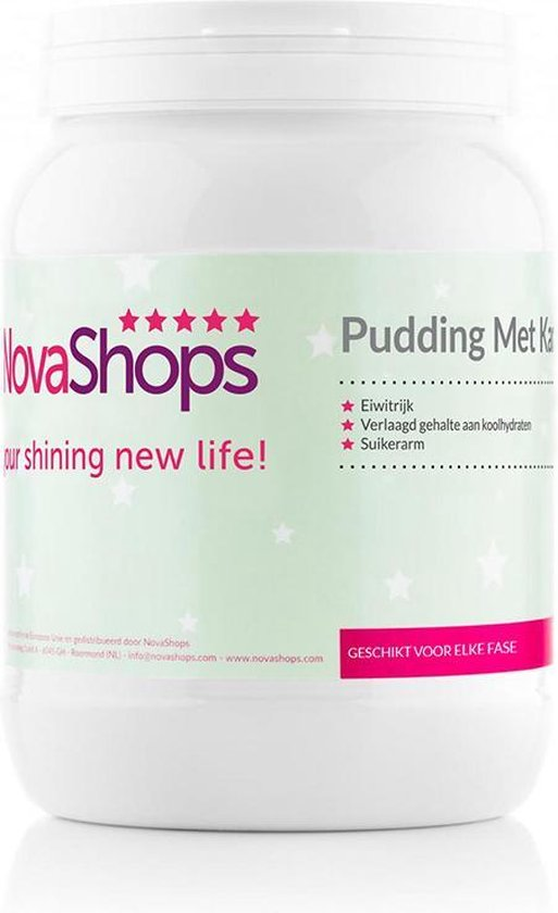 NovaShops eiwitdieet   Afslank & Proteïne pudding   Karamel Pudding (17 porties)