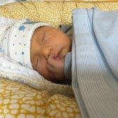 Wieg deken baby   Baby deken   Wikkeldoek   Baby Blauw Streep   Ivy and Soof