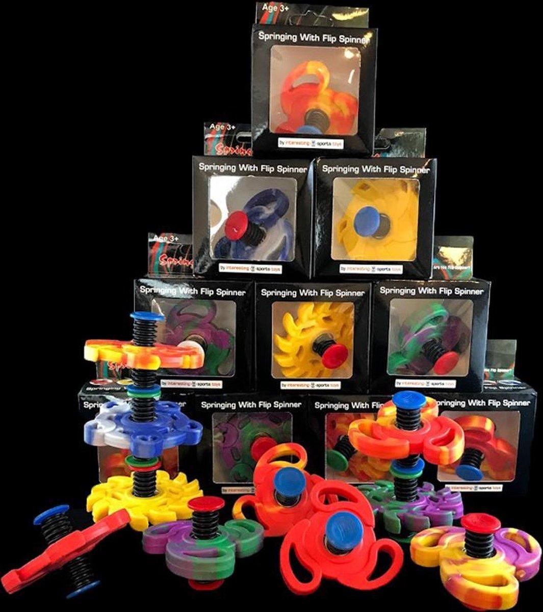 Flip spinner, bouncing spinner, jumping spinner, springing spinner, sinterklaas cadeau - 20 stuks