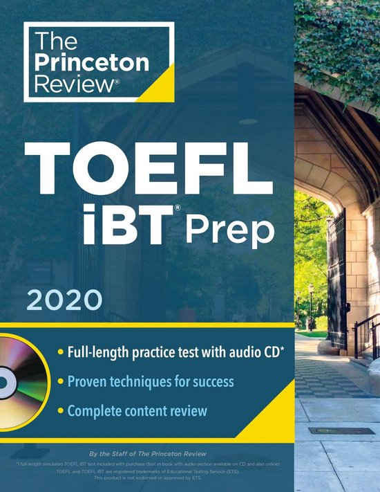 Boek cover Princeton Review TOEFL iBT Prep with Audio CD, 2020 van Princeton Review