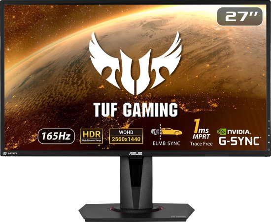 ASUS TUF VG27AQ - QHD IPS Gaming Monitor - 27 inch - 144-165hz