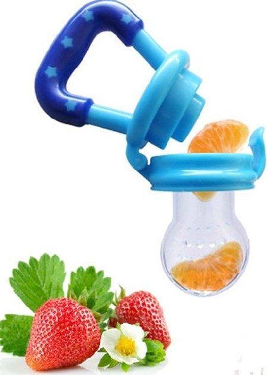 Baby fruit speen -Fruitspeen Bijtring - Maat M - 4 - 12 maanden - Blauw