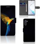Samsung Galaxy Note 10 Telefoonhoesje met Pasjes Papegaai