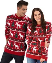 """Foute Kersttrui Dames & Heren - Christmas Sweater """"Gezellig Kerst Rood"""" - Kerst trui Mannen & Vrouwen Maat M"""