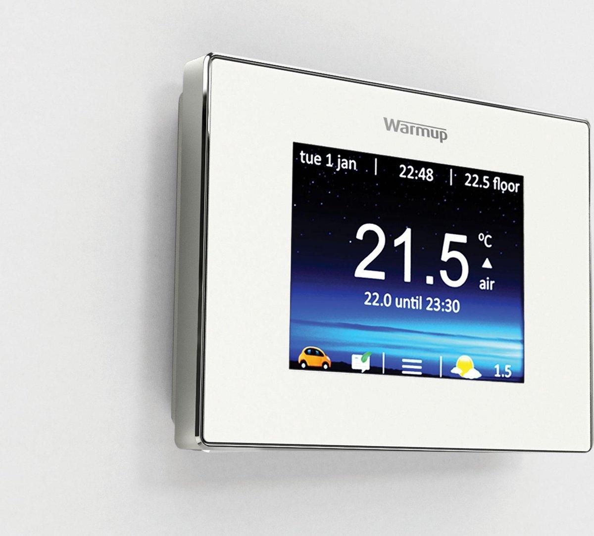 4iE Smart Wifi Thermostaat Elektrische vloerverwarming | Kleur: Cloud White | Warmup