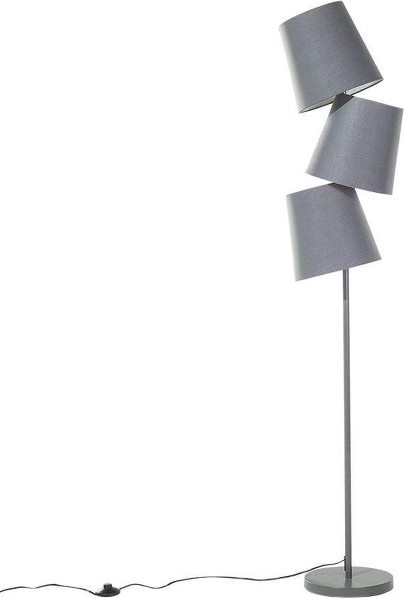 Bol Com Beliani Staande Lamp Stehlampe Grijs Metaal