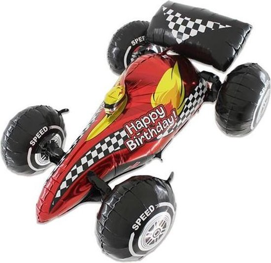 Folieballon - Race auto - Max - 3D - 91cm - Zonder vulling
