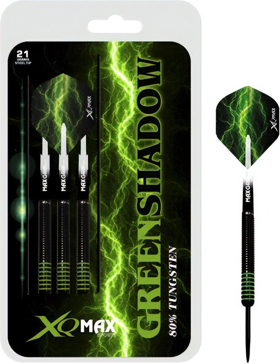 XQ Max - Green Shadow - darts - 25 gram - dartpijlen - 80% tungsten - steeltip - Greenshadow