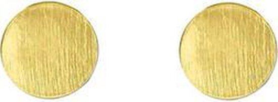 24/7 Jewelry Collection Cirkel Oorbellen - Rond - Oorknopjes - Geborsteld - Minimalistisch - Goud