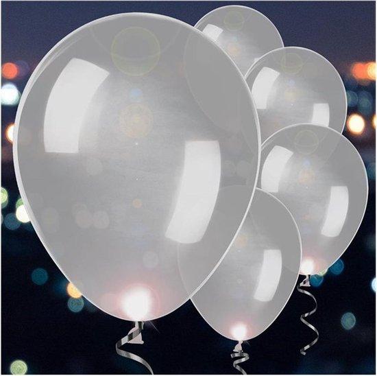 5 Latex Balloons LED Silver 27 5 cm/11