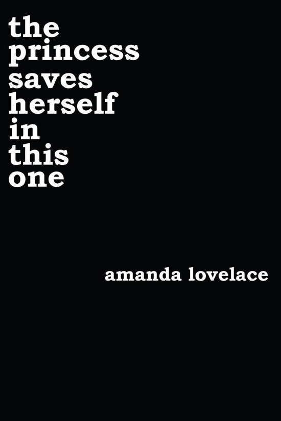 Boek cover the princess saves herself in this one van Amanda Lovelace