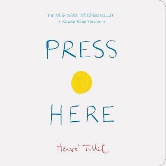 Boek cover Press Here van Hervé Tullet (Hardcover)