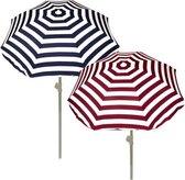 Summertime - Strandparasol 180 cm - Blauw / Rood