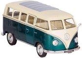 Welly Metalen Volkswagen Bus T1: Groen 13,5 Cm