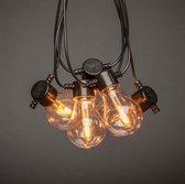 Konstsmide 2391-800 ®  - Snoerverlichting - Premium  feestverlichting 10 lamps  extra warmwit met dimbare single filament PowerLED - zeer energiezuinig en duurzaam - 450 cm - 24V - 4 traps dimmer - voor buiten of binnen