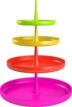 Zak!Designs Sombrero Etagere - 13 cm - Assorti - 4 delig