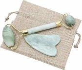 LoveHealth Jade Roller en Gua Sha Schraper Set Gezichtsmassage - 100% Originele En Pure Jade
