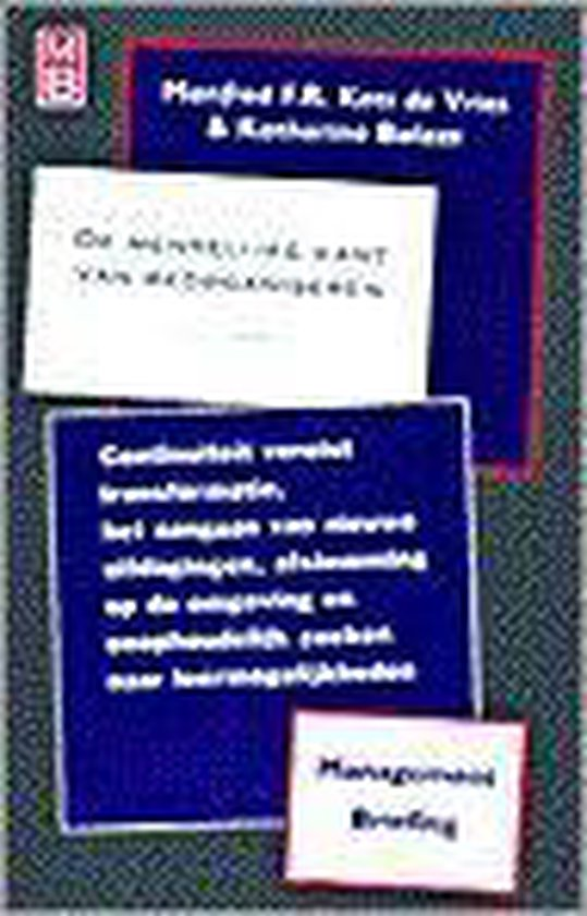 Academic Service economie en bedrijfskunde De menselijke kant van reorganiseren - Manfred F.R. Kets de Vries |