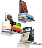 2X  Zwevende Boekenplank -  Onzichtbare Wandplank Voor Boeken - Verborgen Boekensteun Wand Plank Zwevend