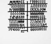 Cotton Ball Lights letters voor letterbord zwart - Letter Set Zwart 2 cm