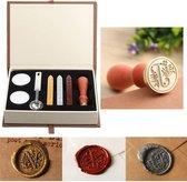 Wax zegel stempel set, klassieke vintage stijl- koperen kleur, mooie geschenkdoos set, ideaal cadeau- Boom Zegel
